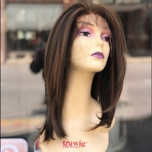 Fulllace long layers brown highlights wig 2020 Wig